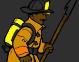 Coloring page Firefighter painted byfirefighter