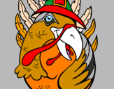 Coloring page Pilgrim turkey painted byrobert