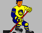 Coloring page Ice hockey player painted byice hckey