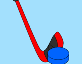 Coloring page Stick and puck painted byice hckey 2