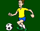 Coloring page Football player painted byatila