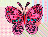 Coloring page Butterfly mandala painted byVANESSA