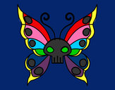 Coloring page Emo butterfly painted byBrianna