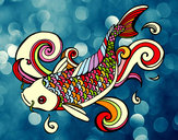 Coloring page Koi painted bySteph