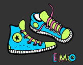 Coloring page Sneakers painted byflybre