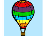 Coloring page Hot-air balloon painted bycassandra