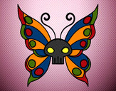 Coloring page Emo butterfly painted bywyldwomin