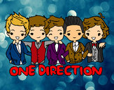 Coloring page One direction painted byBrittany