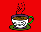 Coloring page Espresso coffee painted bymack