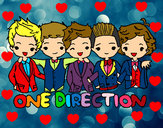 Coloring page One direction painted bycolorgurl