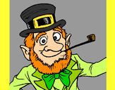 Coloring page Leprechaun painted bycaeley17