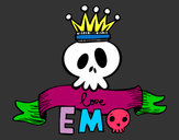 Coloring page Love Emo painted bypoppy