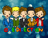 Coloring page One direction painted byDebi