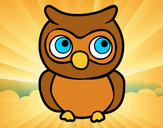 Coloring page Young Owl painted byJessie