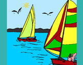 Coloring page Sails at high sea painted bymajja