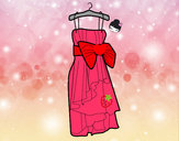 Coloring page Evening dress painted byiluv1D