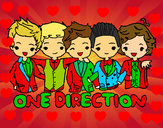 Coloring page One direction painted byKynKyn