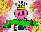 Coloring page Love Emo painted bydgvitale