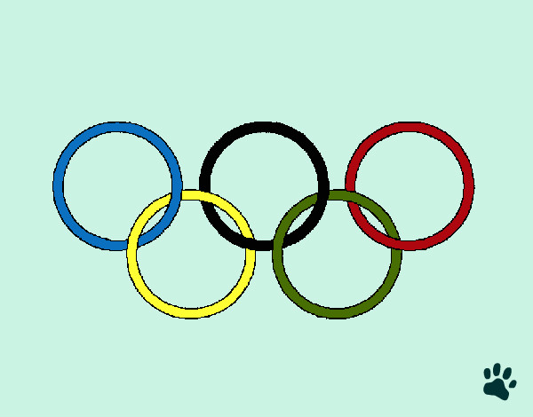 каким-то олимпийские кольца шаблон раскраска представляет оружие грабителей