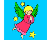 Coloring page Little angel painted bydorothy