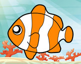 Coloring page Clownfish painted byChloe