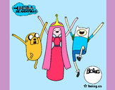 Coloring page Jake, Princess Bubblegum and Finn painted byAlyssa_29