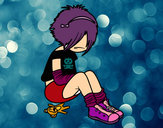 Coloring page Emo girl painted byZner16