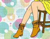Coloring page Young legs painted byElesia