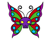 Coloring page Emo butterfly painted byJessica