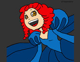 Coloring page Cheerful princess painted bykourichi23