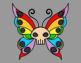 Coloring page Emo butterfly painted bykourichi23