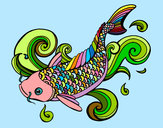Coloring page Koi painted bySamwise