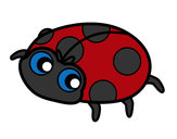 Coloring page Happy ladybird painted bySarah52130