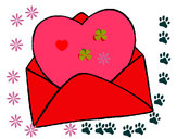 Coloring page Heart in an envelope painted byshersdesti
