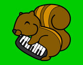 Coloring page Squirrel pianist painted bySarah52130