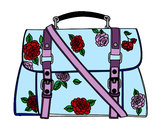 Coloring page Flowered handbag painted bycejmom