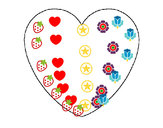 Coloring page Heart painted byalejo