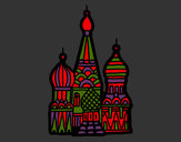 Coloring page Saint Basil's Cathedral painted byMANDALA