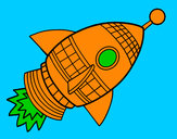 Coloring page Space Rocket painted byMANDALA