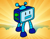Coloring page TV Robot painted byDUCKS