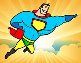 Coloring page Big Superhero painted bykare