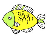 Coloring page Fish to eat painted byrosy