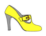 Coloring page Chic shoes painted byVicky