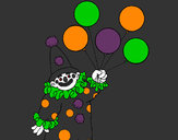 Coloring page Clown with balloons painted byJennyGore