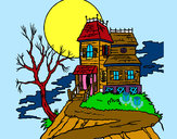 Coloring page Haunted house painted byRAYA
