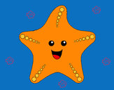 Coloring page Starfish painted byadricasa