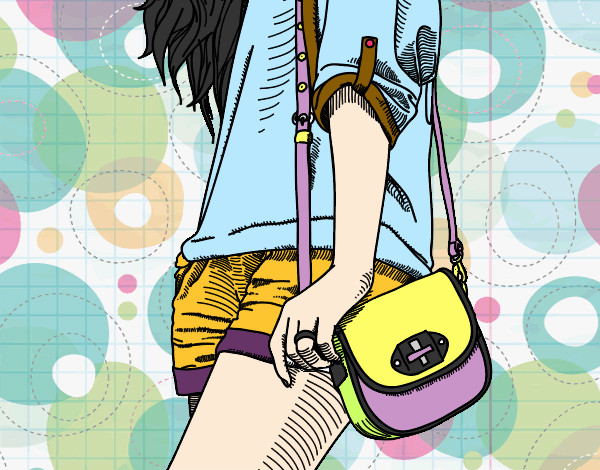 Girl with handbag