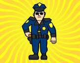 Coloring page Municipal police painted bySebasss