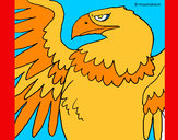 Coloring page Roman Imperial Eagle painted byJDWR