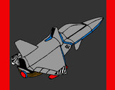 Coloring page Rocket ship painted byJDWR